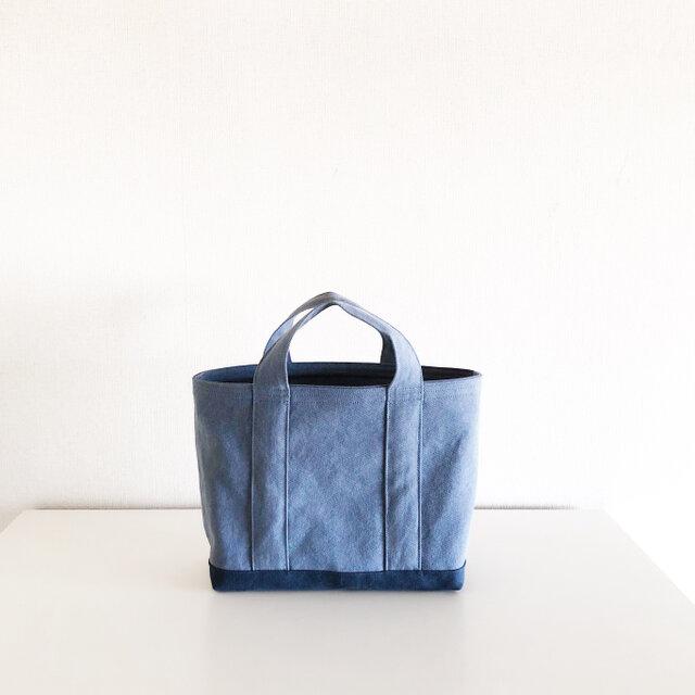 TOTE BAG (M) /  bluegray × smokyblueの画像1枚目