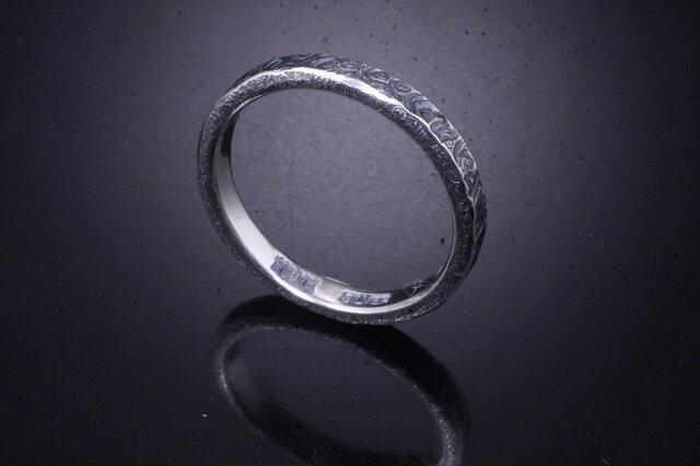 【刻印無料】 指輪 メンズ レディース :渦 鎚目 シルバー リング 3mm幅 4~27号 槌目 シンプル ペアリングの画像1枚目