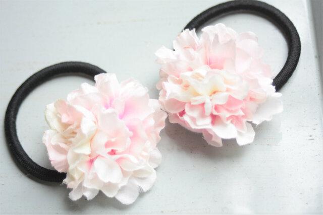 桜の花の髪飾りヘアゴム★2コセットの画像1枚目