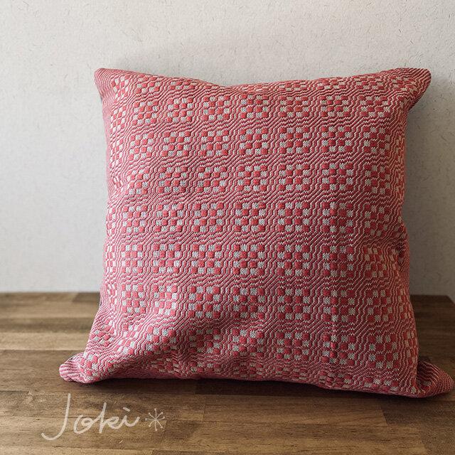 [再販]cushion cover[手織りクッションカバー] レッドの画像1枚目