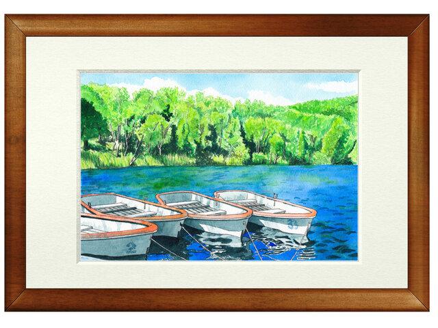 世界で1枚の絵 水彩画原画「木戸池」の画像1枚目