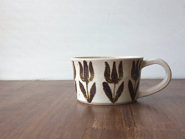 スープカップ 鉄絵チューリップの画像1枚目