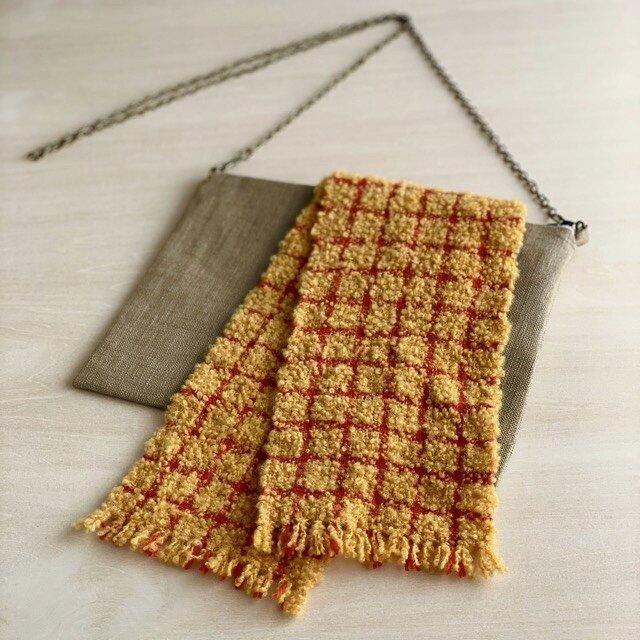 琉球カラーの飾り布 ショルダーバッグの画像1枚目