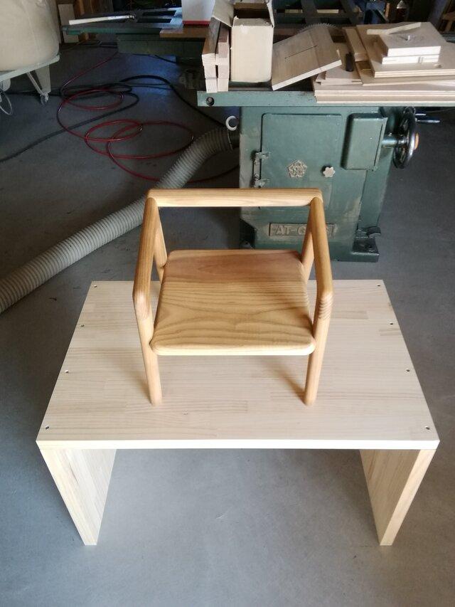 子供用の椅子(キハダ)の画像1枚目