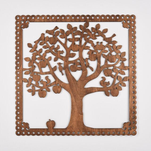 ビッグウッドフレーム「りんごの木」(木の壁飾り)の画像1枚目
