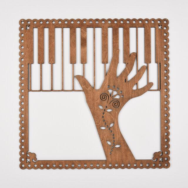 ビッグウッドフレーム「ピアノ・ファンタジスタ」(木の壁飾り)の画像1枚目