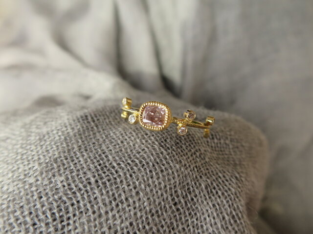 K18 Pink Diamond Ringの画像1枚目