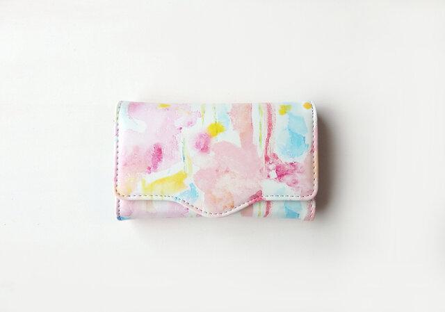 4連キーケース strawberry on the short cake peace カードポケットありの画像1枚目