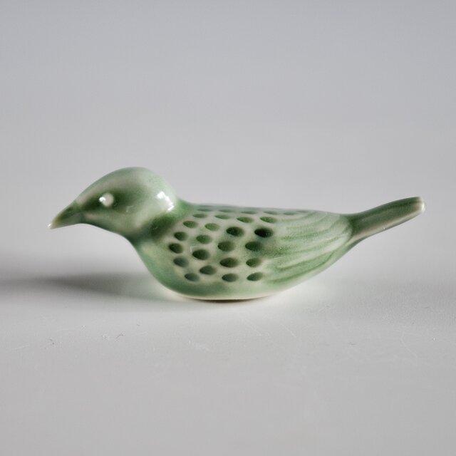 小鳥箸置き 緑の画像1枚目