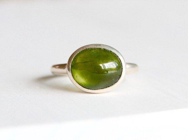 お抹茶カラーのベスピアナイト(アイドグレース)ringの画像1枚目