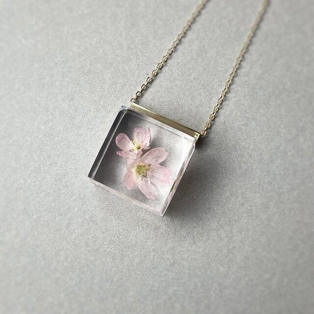 桜のネックレス2021  18KGP(ギフト, 誕生日プレゼント, ギフトラッピング, 結婚式, お呼ばれ)の画像1枚目