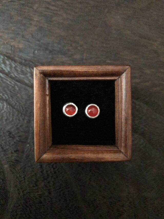 赤メノウのPierceの画像1枚目