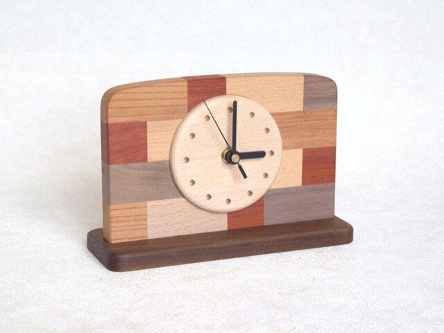 モザイク置時計の画像1枚目