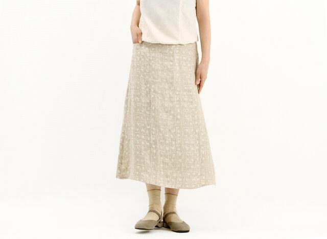 シンプルフレアスカート(ジャガード)#308の画像1枚目