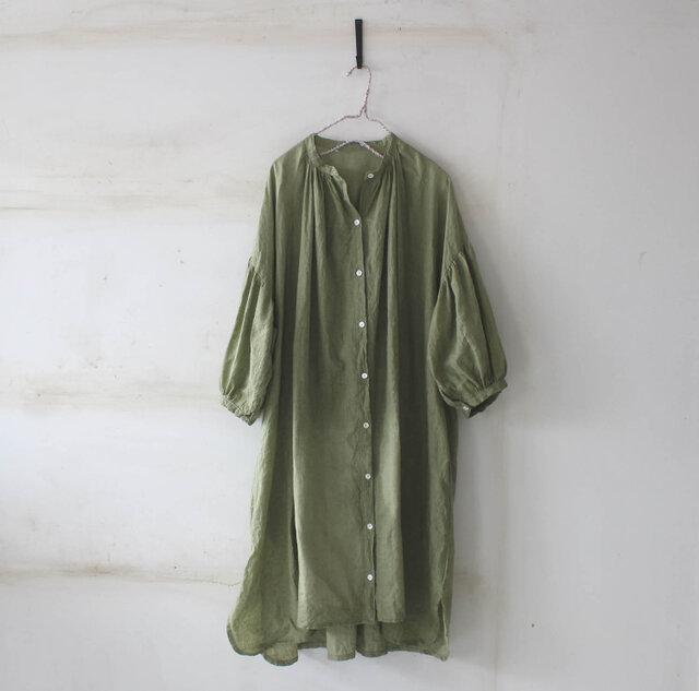 【春NEW】ドロップショルダー ロングシャツ*リトアニアリネンの画像1枚目