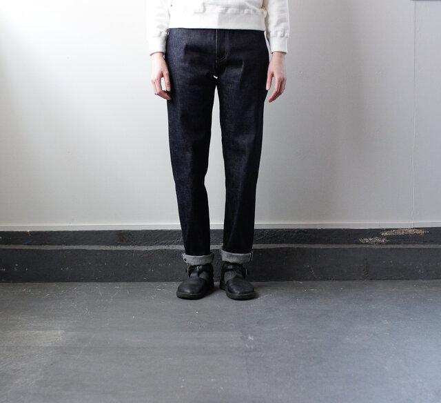 14oz.selvedgedenim jeans/生デニム/ストレートの画像1枚目