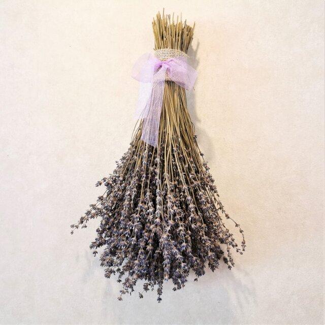 ラベンダースワッグ 大(北海道産)香りの品種・おかむらさき~農薬をつかわずに育ったドライフラワー~の画像1枚目