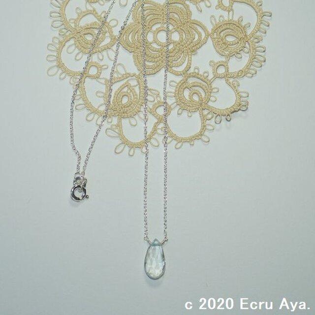 *雛祭*宝石質アクアマリンのネックレスの画像1枚目