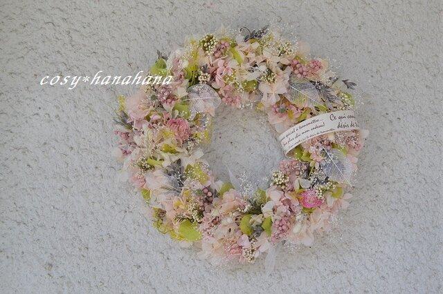 桜色の花舞wreathの画像1枚目