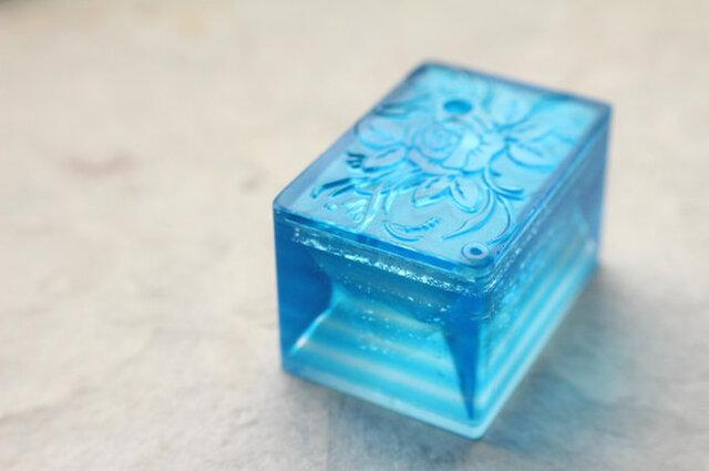 【再販】 ガラス製 書道具 水差し 「水滴石穿」の画像1枚目