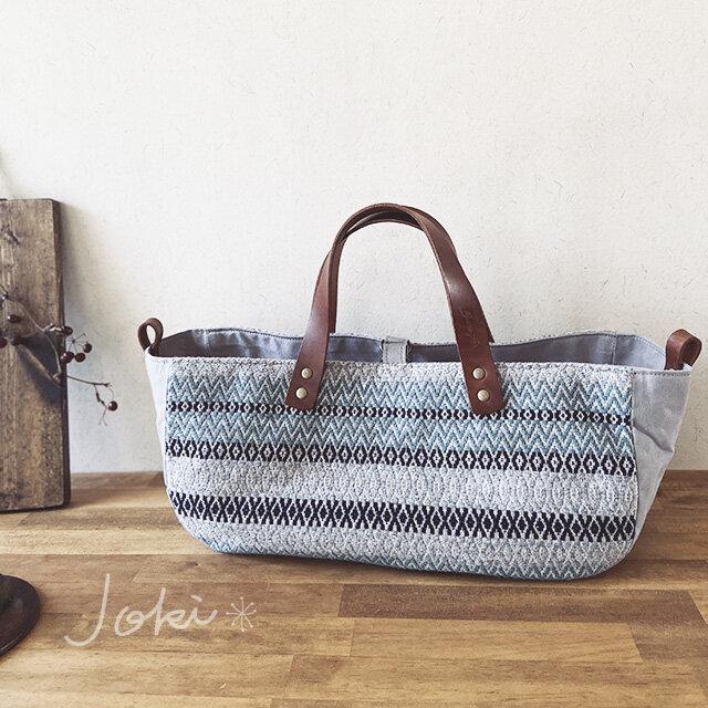 [H様専用ご注文品]手織りboat bag *他の方はご購入できません。の画像1枚目