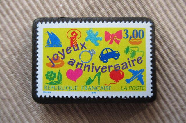 フランス  切手ブローチ 6040の画像1枚目