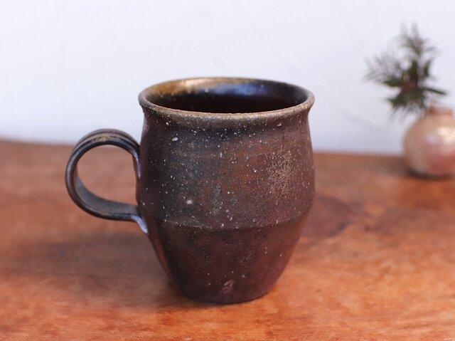 備前焼 コーヒーカップ(野草) c9-024の画像1枚目