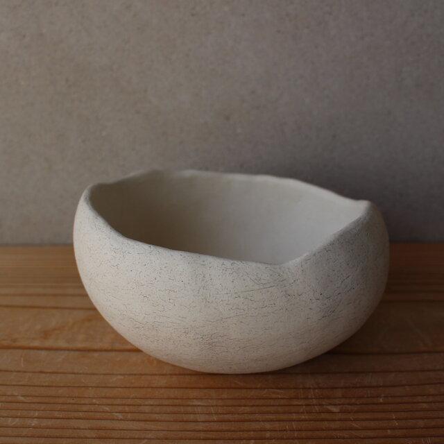 植木鉢 オーバル(地器chiki)白 陶土の画像1枚目