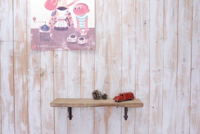 アンティーク加工の棚板 55㎝ (ライトブラウン)の画像1枚目
