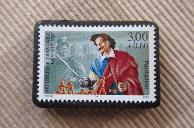 フランス  切手ブローチ 6046の画像1枚目