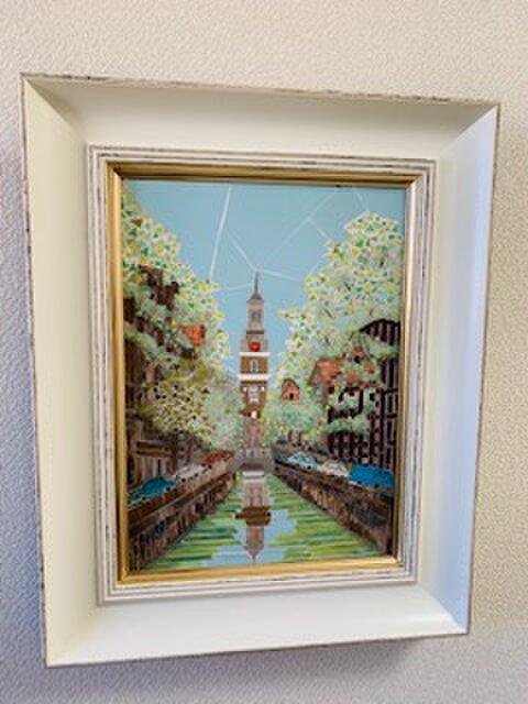 オランダの運河の並木(世界遺産)の画像1枚目