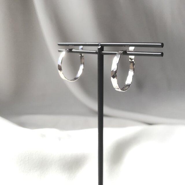 Silver950 シンプルなイヤーカフ 大サイズペアの画像1枚目