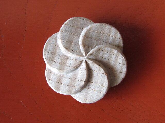 六花弁 花形髪飾り  ~栓~の画像1枚目