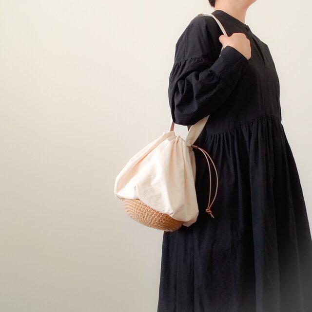 Drawstring bag Cotton キナリの画像1枚目