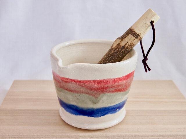 トリコロールのすり鉢の画像1枚目