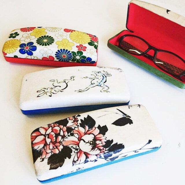 一閑張り『浮世絵ケース』メガネやペン、アクセ入れに♪の画像1枚目