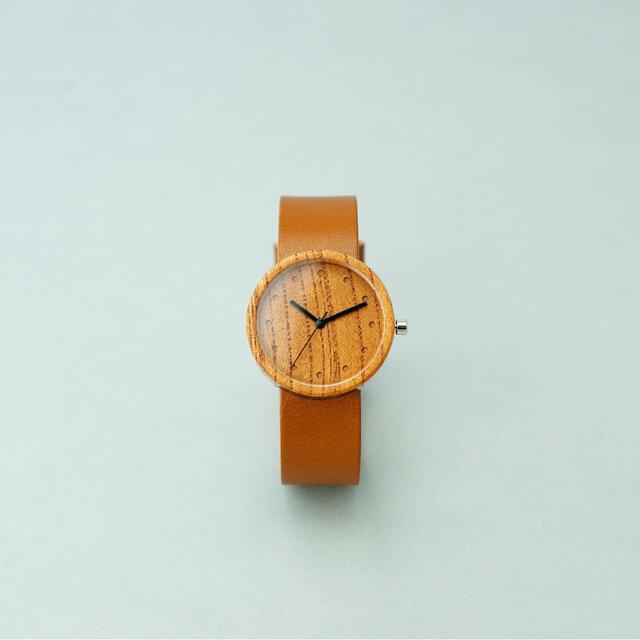 Keyaki (size M)× Honey (Organic Swedish Leather)の画像1枚目