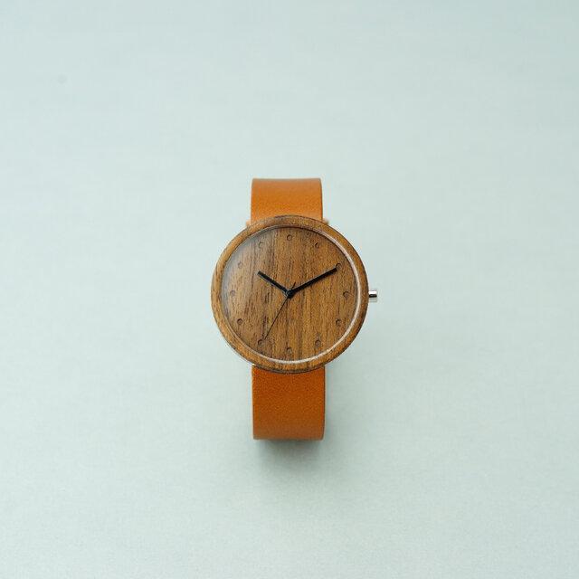 Walnut (size L)× Honey (Organic Swedish Leather)の画像1枚目