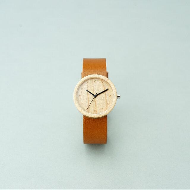 Maple (size M) × Honey (Organic Swedish Leather)の画像1枚目