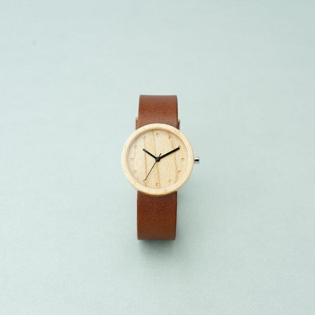 Maple (size M) × Dark Brown (Organic Swedish Leather)の画像1枚目