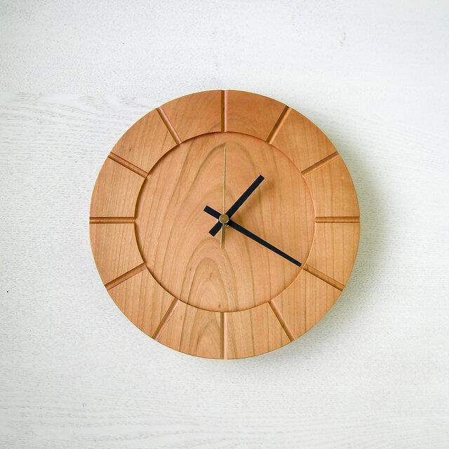 木の時計01(Φ240) No20 | 山桜の画像1枚目