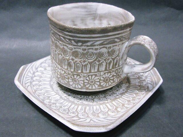 三島唐津コーヒーカップの画像1枚目