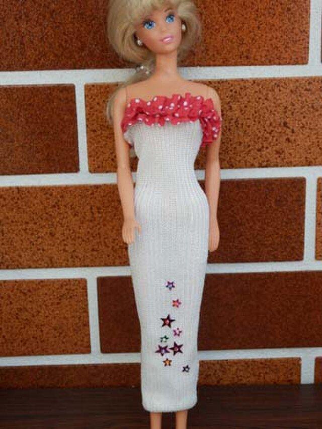 ★sale バービーの白いドレス(5)の画像1枚目