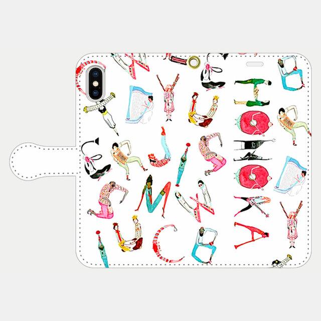 人文字でお名前入れ!③ <love music> iphone 5s/6/6s/SE/7/8/X/XS/11 手帳型の画像1枚目