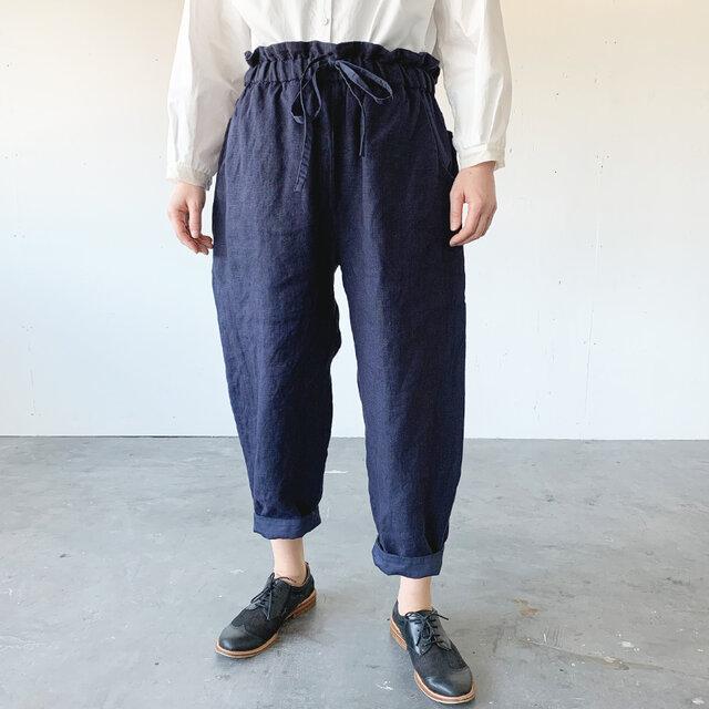 asabukuro pants [navy]の画像1枚目