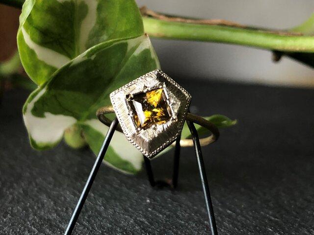 Fragment Golden Sphene ring FMR-9L K18YG*K10WGの画像1枚目