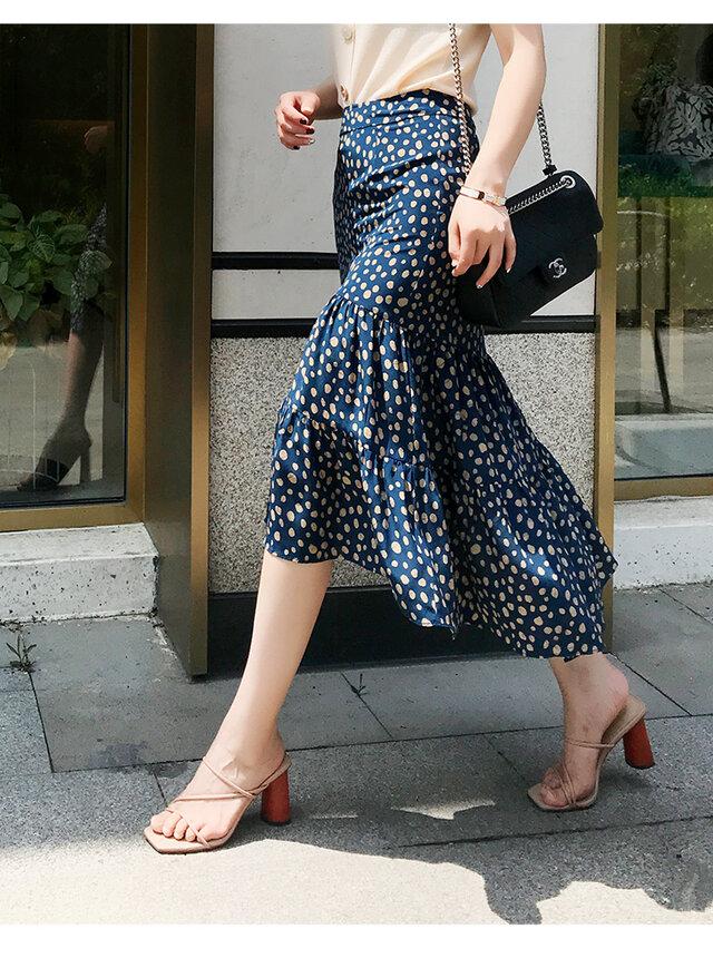 【受注製作】美しい100%シルクで・ロング人魚姫スカート シルク の画像1枚目