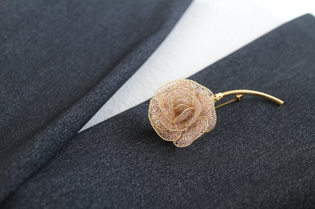 薔薇のブローチ・ロングステムBの画像1枚目