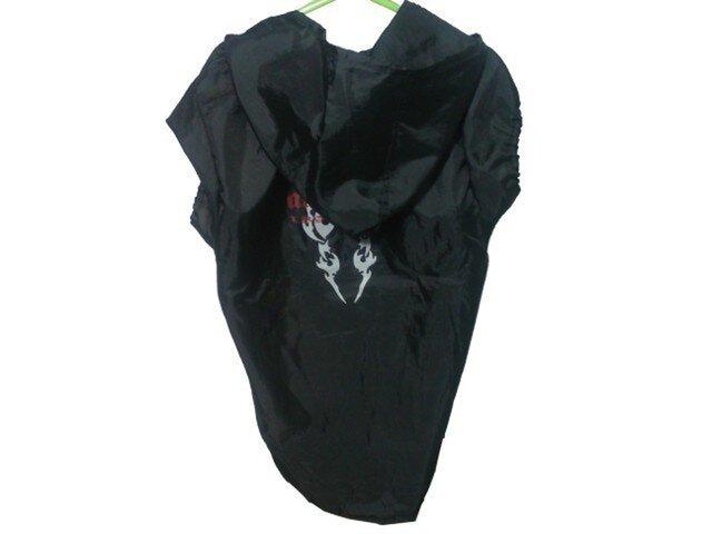 胸66手作り犬服♪ワンちゃんのレインコートブラック・大型犬の画像1枚目