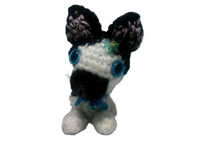 あなたのペットをあみぐるみに・手作りネコちゃんM001手編み人形の画像1枚目
